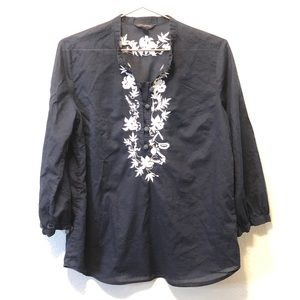 [BANANA REPUBLIC] linen blouse